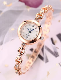 Fashion Golden + White Women's Bracelet Watch