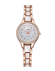 Fashion Flour Quartz Watch With Diamond Strap Bracelet