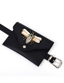 Fashion Golden Bevel Diagonal Belt Buckle Belt With Diamond Sequins