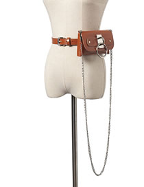 Fashion Camel Detachable Chain Large Loop Messenger Belt Belt Bag