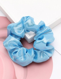 Fashion Blue Wavelet Lightens Crystal Cloth Large Intestine Hair Cord