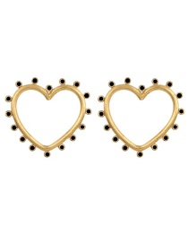 Fashion Black Love Drop Oil Pierced Earrings Reviews