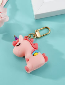 Fashion Pink Unicorn Resin Keychain Pendant