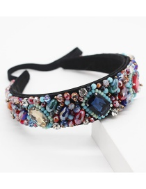 Fashion Color Mixing Crystal Hoop With Diamonds And Gems