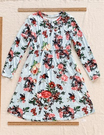 Fashion Color Printed Long Sleeve Dress