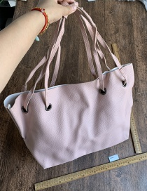 Fashion Pink Pu Large Capacity Shoulder Bag