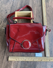 Fashion Red Wine Candy-colored One-shoulder Portable Messenger Bag