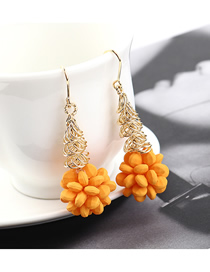 Fashion Gold Plated Gold Fruit Earrings