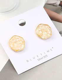 Fashion Gold Plated Gold Shell S925 Silver Needle Earrings