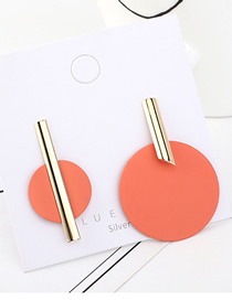Fashion Gold Plated Gold Asymmetric Wafer Matte S925 Silver Needle Earrings