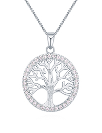 Fashion Platinum Gold-plated Lucky Tree Necklace