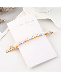 Fashion Beige Size Pearl Hairpin