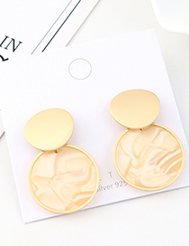 Fashion Golden Resin Round Alloy Earrings
