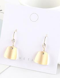 Fashion Dumb Gold Gold-plated Geometric Trapezoidal Earrings