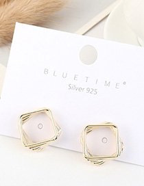 Fashion 14k Gold Gold-plated Square Cutout Earrings
