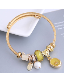 Fashion Yellow Resin Starfish Pearl Butterfly Bracelet