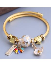 Fashion White Diamond Bracelet With Dripping Flowers And Diamonds
