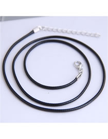 Fashion Black Adjustable Wax Rope Necklace