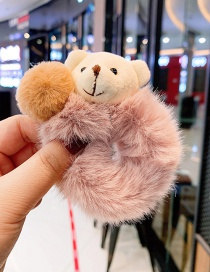 Fashion Korean Noodles Plush Bear Hits Children's Hair Ring