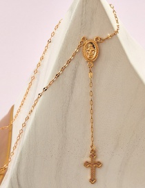 Fashion Golden Our Lady Of The Cross Necklace