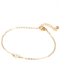 Fashion Golden Love Stainless Steel Diamond Bracelet