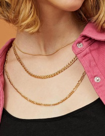 Fashion Golden Alloy Chain Hollow Multilayer Necklace
