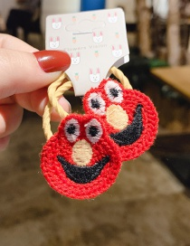 Fashion Red 1 Pair Big Eyes Cute Wool Knitted Children's Hair Rope