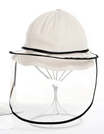 Fashion Creamy-white Anti-fog And Epidemic Prevention Fisherman Hat