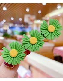 Fashion Green Series Resin Small Daisy Flower Hit Color Child Hair Clip