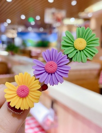 Fashion Color Series C Resin Small Daisy Flower Hit Color Child Hair Clip