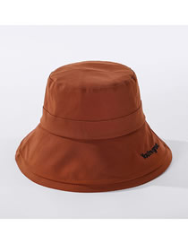 Fashion Caramel Colour Embroidered Monogram Fisherman Hat