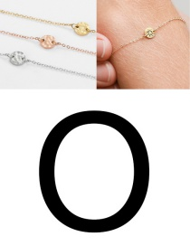 Fashion Steel Color -o (6mm) Bump Stainless Steel Engraved Geometric Round Bracelet