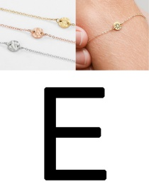 Fashion Rose Gold-e (6mm) Bump Stainless Steel Engraved Geometric Round Bracelet