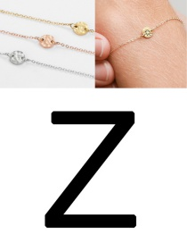 Fashion Rose Gold-z (6mm) Bump Stainless Steel Engraved Geometric Round Bracelet