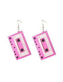 Fashion Pink Acrylic Alloy Alloy Earrings