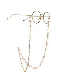 Fashion Golden Handmade Copper Star Chain Glasses Chain