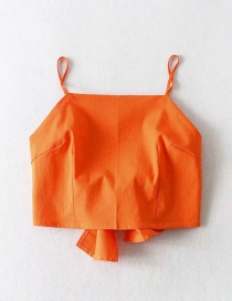 Fashion Orange Back Knotted Sling Back Vest