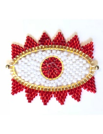 Fashion Red Bead Braided Eye Accessories