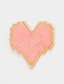 Fashion Pink Bead Woven Love Accessories