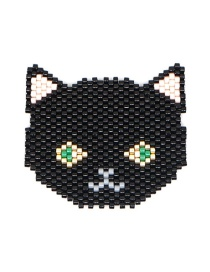 Fashion Black Cat Bead Braided Beaded Accessories