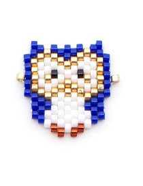 Fashion Blue Owl Bead Woven Bird Accessories