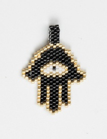 Fashion Black Bead Woven Palm Accessories