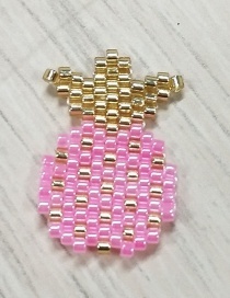 Fashion Pink Pineapple Bead Woven Fruit Plant Flower Series Accessories
