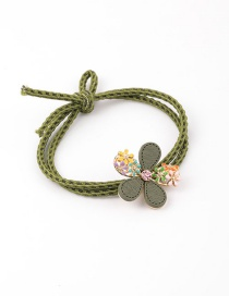 Fashion Green Dripping Oil Flower Headband