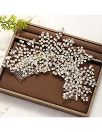 Fashion White Rhinestone Branches Hand-woven Headband