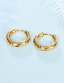 Fashion Gold single 10mm Color retaining stainless steel geometric round earrings