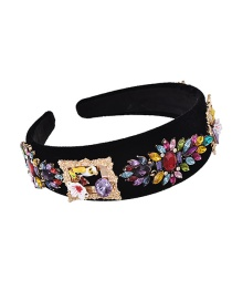 Fashion Color Fabric Alloy Diamond Parrot Flower Headband
