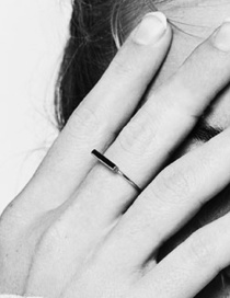 Fashion Silver Stainless Steel Geometric Word Ring