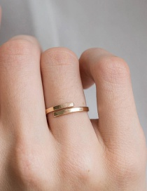 Fashion Golden 18k Gold Plated Open Stainless Steel Ring