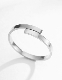 Fashion Silver 18k Gold Plated Open Stainless Steel Ring